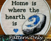 Home is Where the Hearth is Cross Stitch Pattern (World of Warcraft, Horde and Alliance)