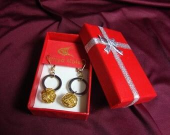 "Unique Metal Earrings ""Saturn"" #J030 Original price: 60.00 USD"