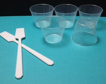 Reusable Spatula, Mixing Cups, and Starter Sets
