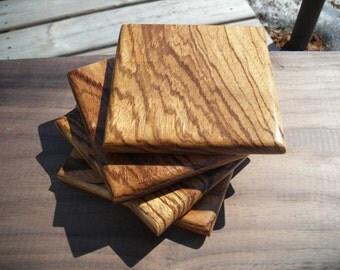 Handmade Exotic Wood Coaster Set ***FREE SHIPPING***