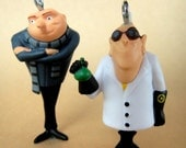 Set of 2 Toy Charms - Gru and Dr Nefario
