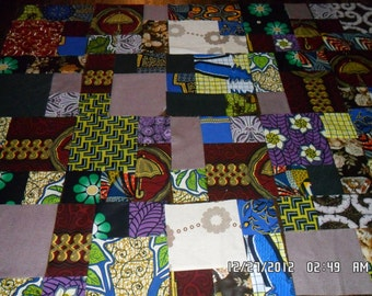 African Fabric Quilt