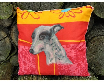 PILLOW with WHIPPET