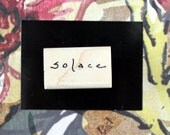 Nancy Curry Art  hand-lettered solace rubber stamp