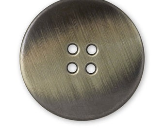 25mm Vintage Vintage Metal Round 4-Hole Button by 2pcs, BEA-20962