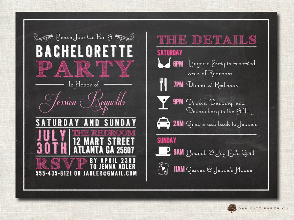 Printable Bachelorette Party Invitations was very inspiring ideas you may choose for invitation ideas