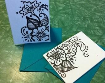 Henna Flower Stationary Set