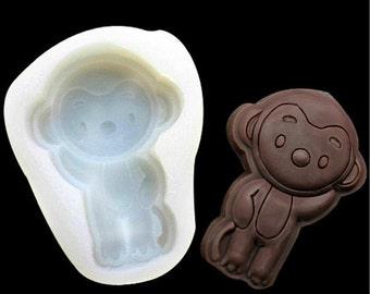 Monkey Chocolate Mold Flexible Silicone Cake Fondant Mould