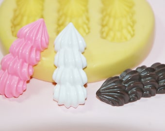 0047-Cake Frosting Kawaii Silicone Rubber Flexible Food Safe Mold-wax, soap, fondant, gumpaste, plaster, jewelry, polymer clay, chocolate