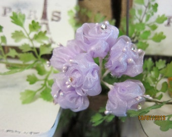6 Small Organza Flowers-Orcanza Flower 001