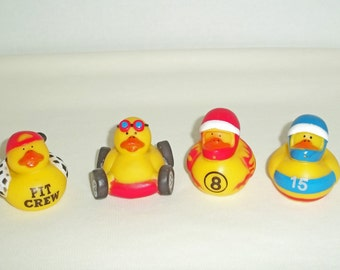 For the Nascar Lover- Rubber ducks