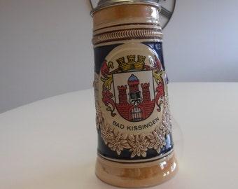 W. Germany Lidded Ceramic Beer Stein **SALE**