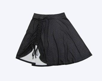 Black Skirt , Women Full Skirt , Casual skirt , Mini skirt , Stretch skirt , Skirt with bow , Women's short Skirt , Cotton skirt