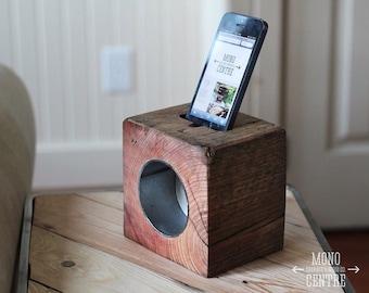 RAD block acoustic iphone dock
