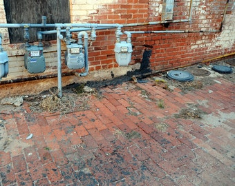Electric Meters in an Alley