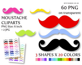 Mustache cliparts PNG and JPG, mustache clip art, moustache, little man - BR 298