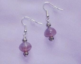 Pink Swirl Drop Earrings