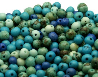 REAL Acai Beads in In the Blue Mix QTY: 100 beads.