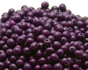 REAL Acai Beads in Purple Berry QTY: 100 beads.