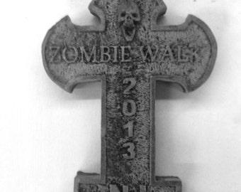 ZombieWalk NJ 2013 souvenir tombstone cross