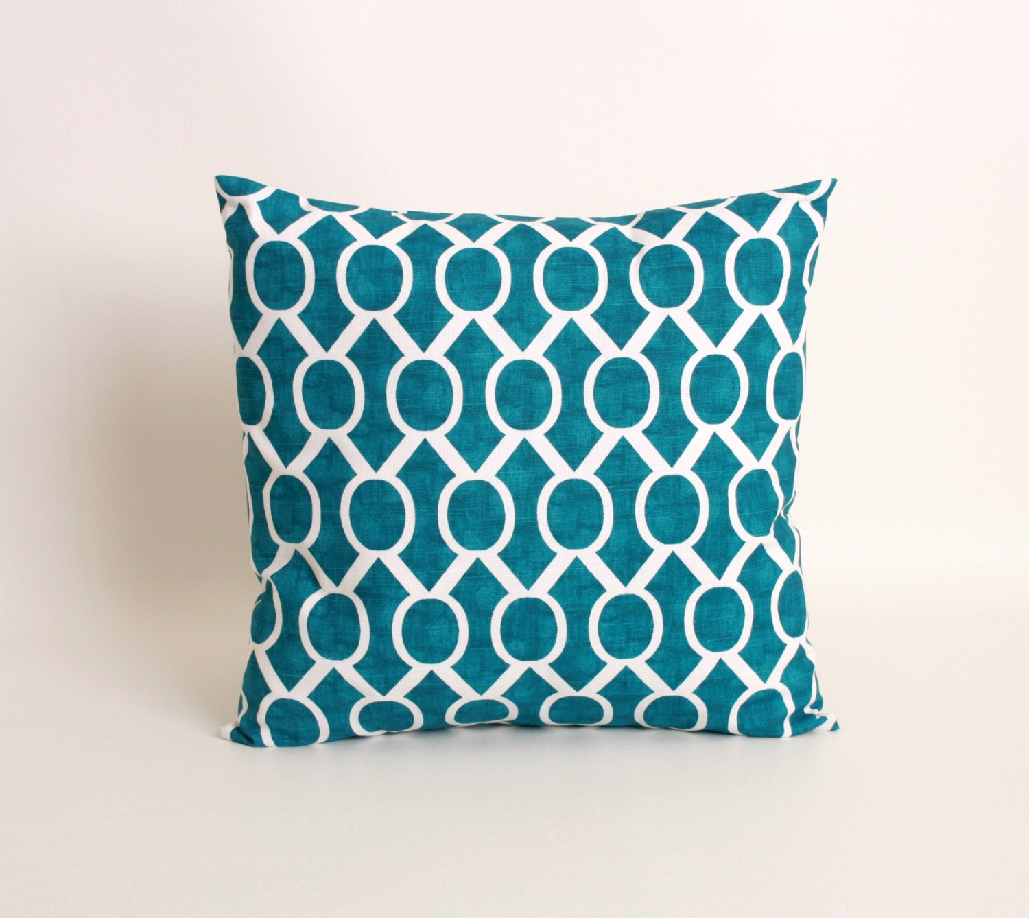 Teal Blue Throw Pillow : Teal Throw Pillow Cover Teal Blue Cushion by DimensionsHomeDecor