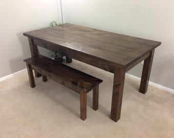Farmhouse Table / Farm Table / Harvest Table /  Walnut