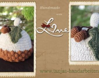 Acorn Baby Hat Crochet Pattern