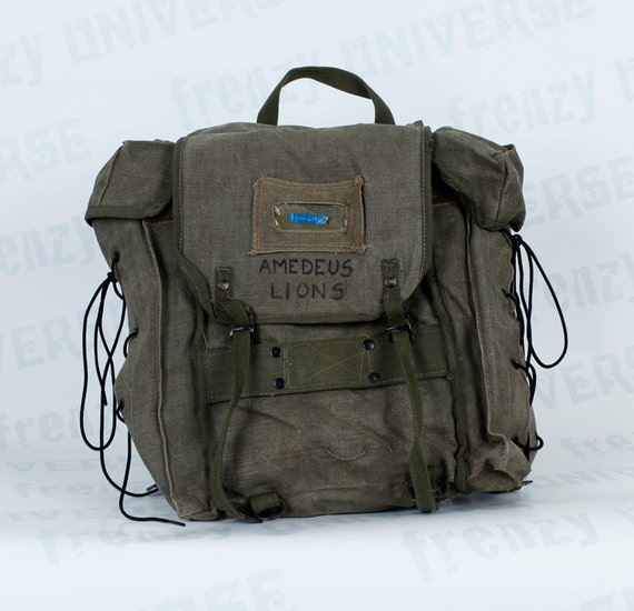 Vintage Italian Military Surplus Backpack Actual Issue