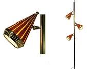 Mid Century Modern Tension Pole Lamp Light Vintage 1960's
