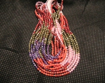3mm Cubic Zircon-13 inch Micro faceted Rondelle Multi color Strand.AAA+ QUALITY