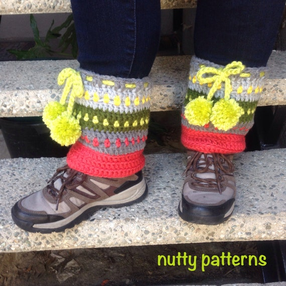 Crochet Pattern Track Boot Cuffs & Leg Warmers by ...
