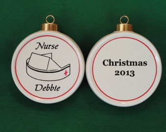 Custom NURSE Ornament *Personalized* Christmas, Holiday, Paramedic, Firefighter, Pet, Memorial