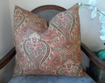 Elegant Brown/Ponke19x19 Pillow Cover in a Modern Design