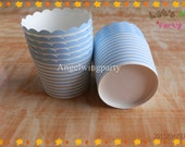 CLEARANCE SALE!!50pcs Blue With White Polka Dot Paper Baking Cups,Polka Dot Portion Cups,Cupcake Cups,Treats Cups,Polka dot Nut Muffin Cups