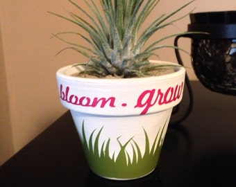 Bloom and Groom Mini Flower Pot Personalized Customized for any occasion