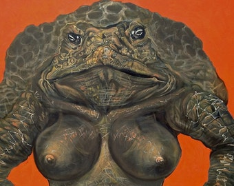 Cane Toad Queen Print