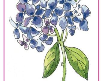 Purple Hydrangea Gift Tag