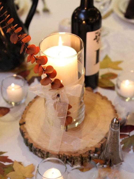 Rustic wedding wood slice by twosimpleideas on etsy