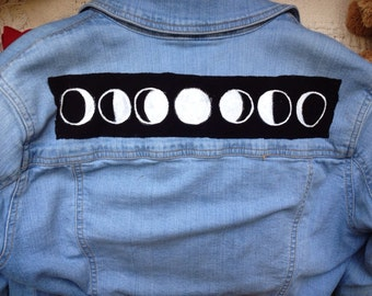 Moon Phases Back Punk Rock Grunge Patch