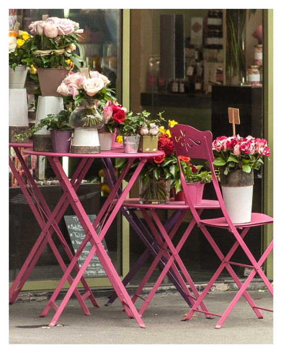 Paris photography, Home Decor, Pink French Flowertables, Paris Decor, Parisian, 5x7, 8x10, Wall Decor, Paris fine art photography