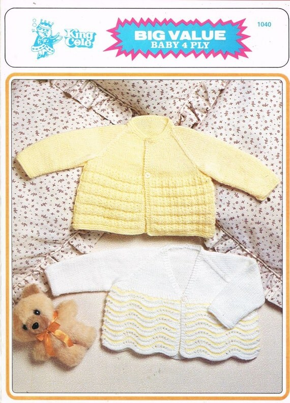 King Cole Knitting Patterns To Download : King Cole 1040 baby matinee coat vintage knitting by Ellisadine