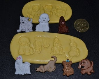 Dogs Silicone molds set of 7