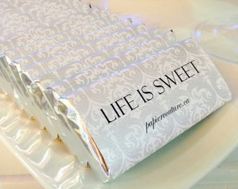 Candy bar wrappers, Custom candy bar wrappers, Personalized Chocolate bar wrappers, Damask Candy Wrappers