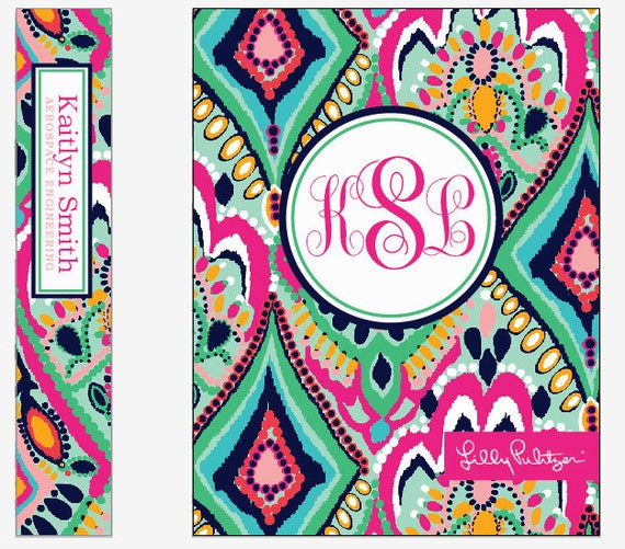 items similar to monogram binder insert lilly patterns      digital files on etsy