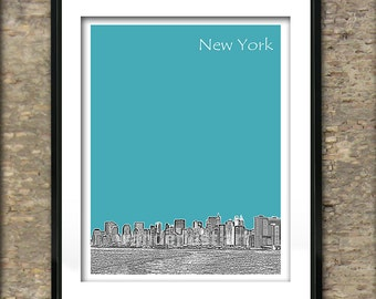 New York City Poster Print A4 Size Manhattan NY Art