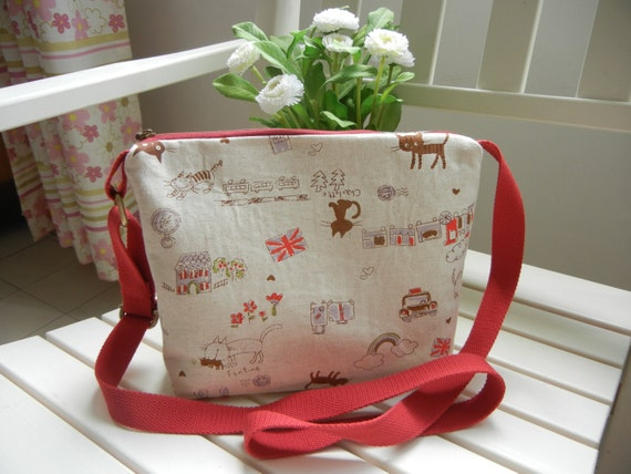 Travel cat Fabric Sling bag Fabric Sling bag Fabric