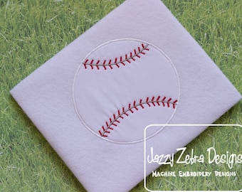 Baseball Appliqué embroidery Design - baseball appliqué design