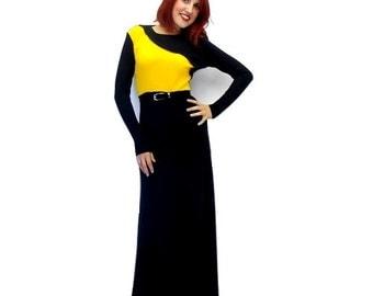 Casual Jersey Dress, Long Dress Dalil