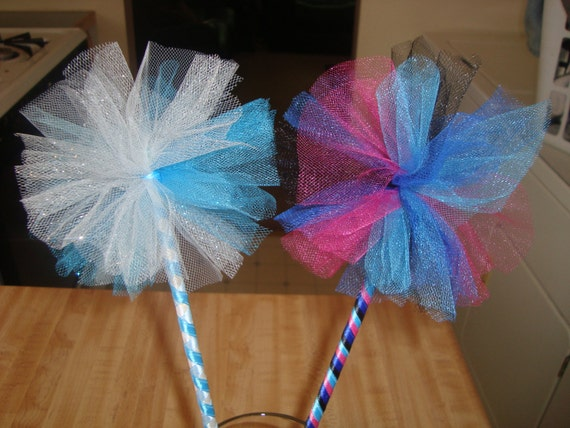 Items similar to elsa or anna inpsired tulle wand great for Anna wand