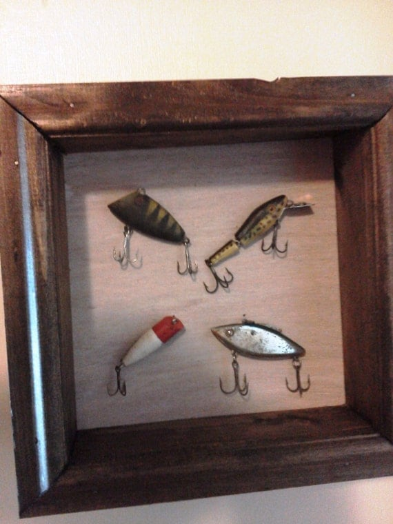 Items similar to old antique vintage looking fishing lure for Fishing lure decor